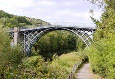 Il ponticello del ferro sopra il fiume Severn Fotografia Stock Libera da Diritti