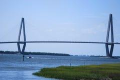Il ponticello del Jr Ponte a Charleston, Scouth Carolina Immagine Stock Libera da Diritti