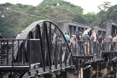 Il ponticello del kwai del fiume Fotografie Stock
