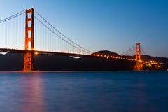 Il ponticello di cancello dorato a San Francisco Fotografie Stock