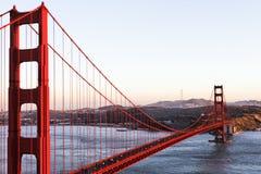 Il ponticello di cancello dorato a San Francisco Immagini Stock Libere da Diritti