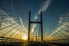 Il ponticello di Severn Fotografie Stock