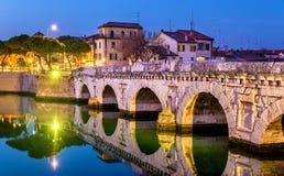 Il ponticello di Tiberius a Rimini fotografia stock libera da diritti