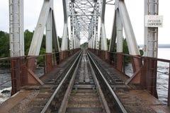 Il ponticello ferroviario Fotografia Stock Libera da Diritti