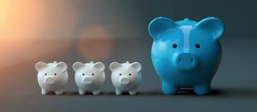 Il porcellino salvadanaio conserva l'investimento dei soldi immagini stock libere da diritti