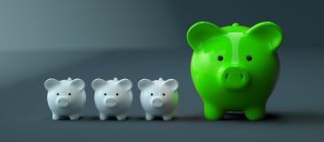 Il porcellino salvadanaio conserva l'investimento dei soldi fotografie stock libere da diritti
