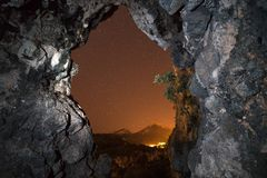 Il portale dell'inferno fotografia stock libera da diritti