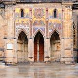Il portale dorato, cattedrale della st Vitus Fotografia Stock