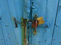 Il portello blu Fotografia Stock Libera da Diritti