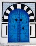 Il portello blu Fotografie Stock Libere da Diritti