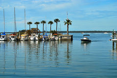 Il porticciolo a Dundedin, Florida Fotografie Stock Libere da Diritti