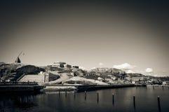 Il porticciolo sul ende di Verdens della costa, Norvegia Immagine Stock