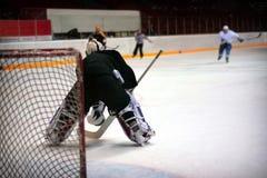 Portiere dell'hockey Fotografie Stock