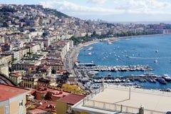 Il porto azzurrato di Napoli Immagine Stock