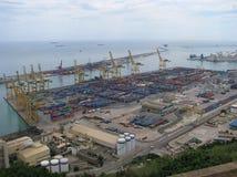 Il porto a Barcellona Fotografia Stock Libera da Diritti