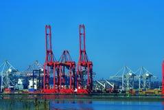 Il porto cranes il warf di Wilson fotografia stock libera da diritti