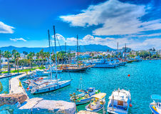 Il porto dell'isola di Kos Fotografia Stock