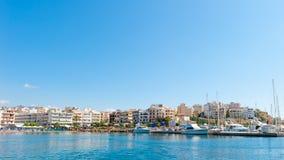 Il porto di Agios Nikolaos, Creta, Grecia Immagini Stock Libere da Diritti