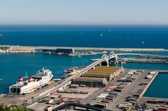 Il porto di Barcellona Fotografie Stock Libere da Diritti