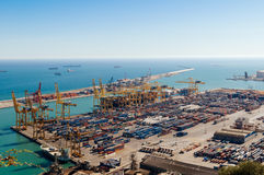 Il porto di Barcellona Fotografia Stock Libera da Diritti