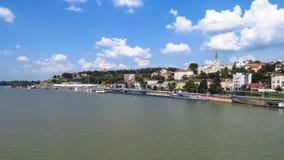 Il porto di Belgrado Fotografie Stock Libere da Diritti