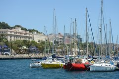 Il porto di Cartagine, Spagna Fotografie Stock