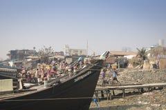 Il porto di Chittagong, Bangladesh immagini stock libere da diritti