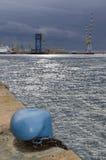 Il porto di Genova con le gru fotografia stock libera da diritti