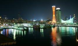 Il porto di Kobe nel Giappone Fotografie Stock Libere da Diritti