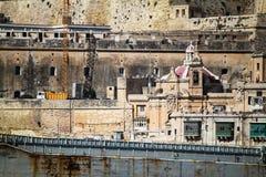 Il porto di La Valletta Immagini Stock Libere da Diritti