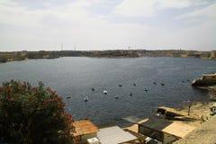 Il porto di Malta Fotografia Stock