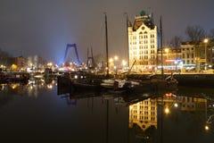 Il porto di Oude a Rotterdam Fotografia Stock Libera da Diritti