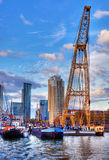 Il porto di Rotterdam Fotografia Stock Libera da Diritti