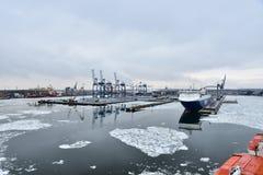Il porto di Vuosaari, Helsinki, Finlandia Fotografie Stock