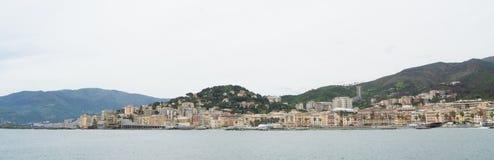 Il porto in Genoa Pegli, Italia fotografia stock libera da diritti