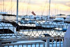 Il porto impedisce di entrare la proprietà privata Fotografia Stock
