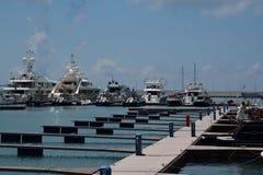 Il porto marittimo con le navi Fotografia Stock Libera da Diritti