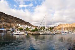 Il porto Mogan Gran Canaria Fotografia Stock
