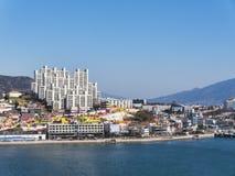 Il porto nella città di Yeosu Immagini Stock Libere da Diritti