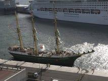 Il porto per le navi di tutte le dimensioni nella città di Funchal Madera immagini stock libere da diritti