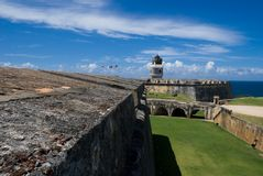 Il Porto Rico - EL Morro della fortificazione Immagini Stock Libere da Diritti
