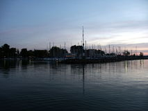 Il porto sul lago Fotografia Stock