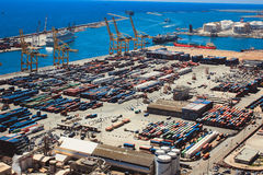 Il porto Vell di Barcellona Fotografie Stock