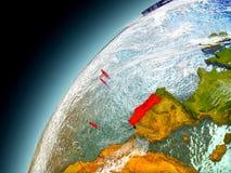 Il Portogallo dall'orbita di Earth di modello Fotografia Stock Libera da Diritti