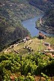 Il Portogallo: Il Duero River Valley Fotografia Stock