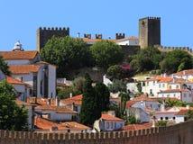 Il Portogallo, Lisbona Città pittoresca e medievale di Obidos fotografie stock libere da diritti