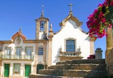 Il Portogallo, Ponte da barca, monumento antico, chiesa Fotografia Stock