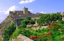 Il Portogallo, regione di Alentejo, Marvao: castello Fotografie Stock