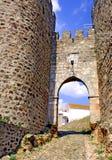 Il Portogallo, regione di Alentejo; parete difensiva Fotografia Stock Libera da Diritti