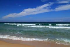 Il Portogallo, spiaggia abbandonata Immagini Stock